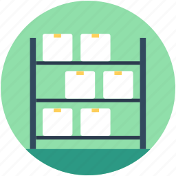 box shelf, boxes, industry, manufacturing, shipment icon