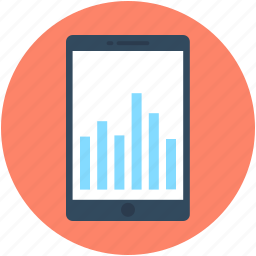 bar graph, graph, mobile graph, online graph, statistics icon