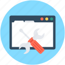 screwdriver, spanner, web options, web preferences, web setting icon