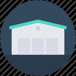 building, godown, storage unit, storehouse, warehouse icon