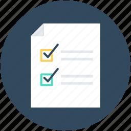 checklist, index, list, memo, tasks icon