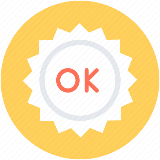 label, ok sticker, product sticker, sticker, success icon