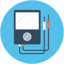 ampere, digital multimeter, technician meter, voltage meter, voltmeter icon