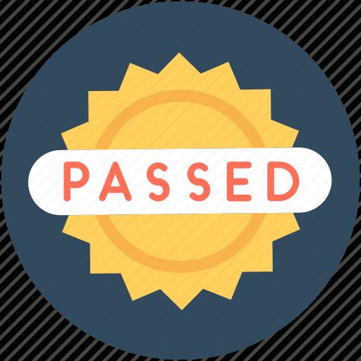 label, passed sticker, product sticker, sticker, success icon