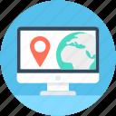 location finder, laptop, online navigation, online map, gps