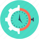 gear, gearwheel, industry, time settings, timer icon