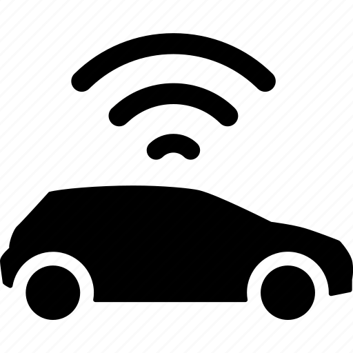 car, coordinates, gps, location, position, signal icon