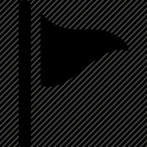 destination, ensign, flag, location, marker, triangle icon