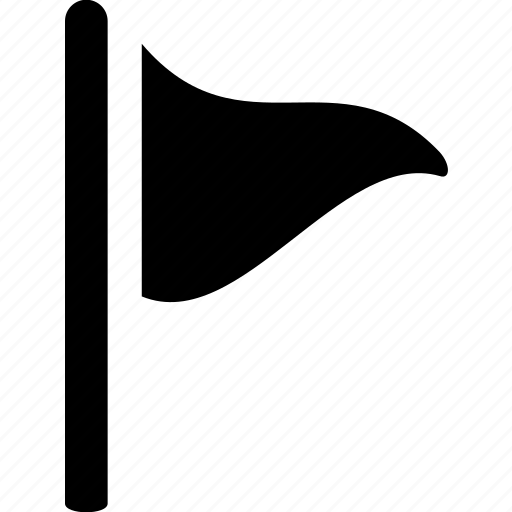 Destination, ensign, flag, location, marker, triangle icon - Download on Iconfinder