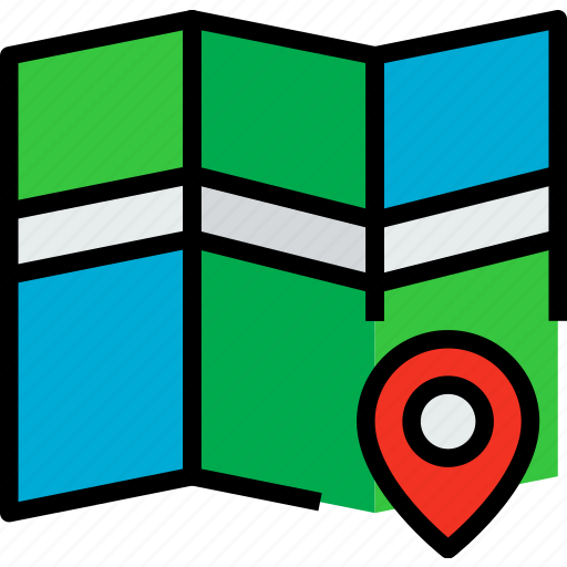 direction, location, map, navigator, position, route, way icon