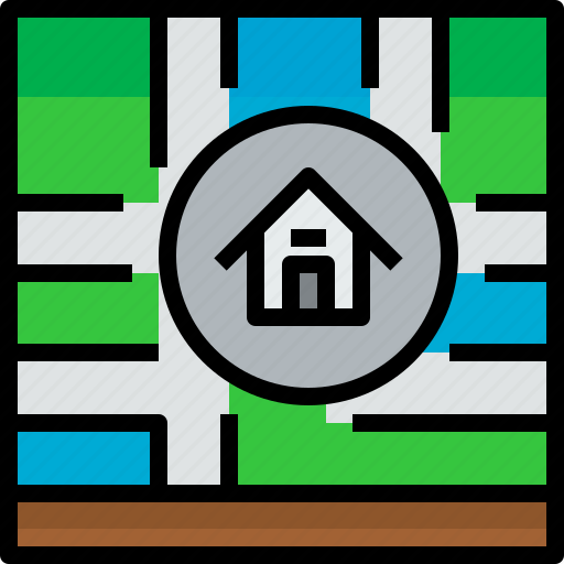 direction, home, location, navigator, position, route, way icon