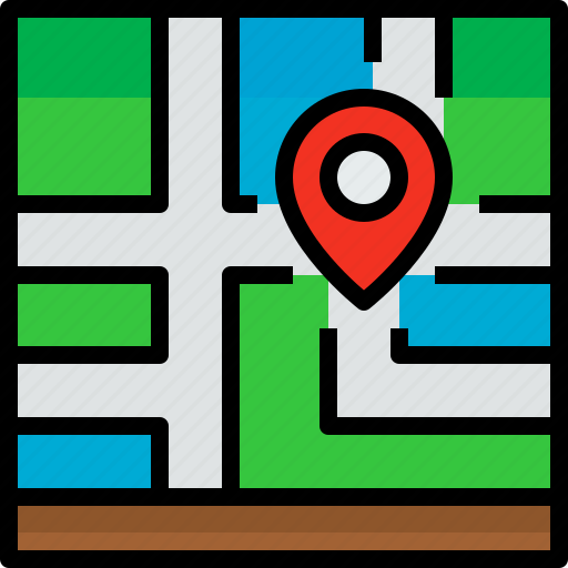 direction, location, navigator, pin, position, route, way icon