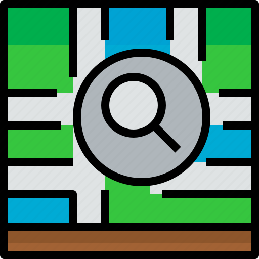 direction, location, navigator, position, route, search, way icon