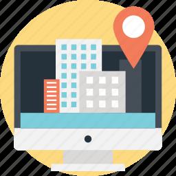 gps, navigation, navigation website, online navigation, pc navigator, tracking software icon