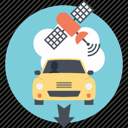 automotive navigation, car navigation, car tracker, gps, navigation system, satellite navigation icon