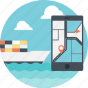 marine navigation, marine navigation app, navigation and shipping, ship tracking, shipping navigation icon