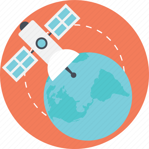 biomass satellite, global navigation satellite, radar satellite, space based radar, spaceborne radar system icon