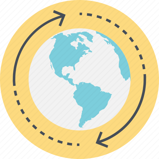 destination, global ecology concept, globe and arrow, round the world, world, world tour icon