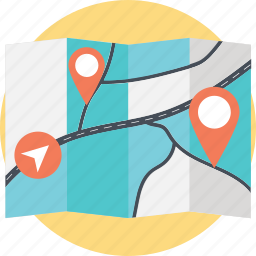direction pointer, gps, map location, map locator, navigation map icon