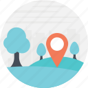 directions, forest navigation, location marker, location pointer, navigation