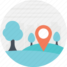directions, forest navigation, location marker, location pointer, navigation icon