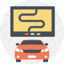 car navigation, car tracking system, gps car tracker, gps tracking, navigation technology icon