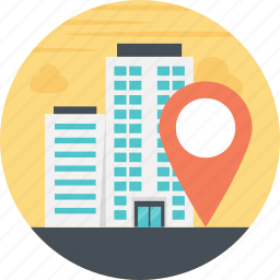geolocation, location finding, location marker, navigation system, office location icon