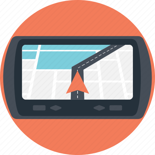 gps, gps device, gps navigation device, gps receiver, gps tracker icon