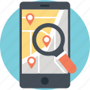 caller location, gps phone tracker, location tracker, mobile gps, search location app icon
