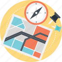 compass and map, gps concept, map location, map navigation, navigation icon
