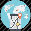 android navigation app, mobile navigation app, mobile navigation website, smartphone gps navigation, smartphone navigation icon