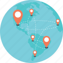 global location, global navigation, global positioning, globe and pointers, positioning system