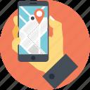 mobile app, mobile gps, mobile navigation, navigation app, smartphone navigation icon