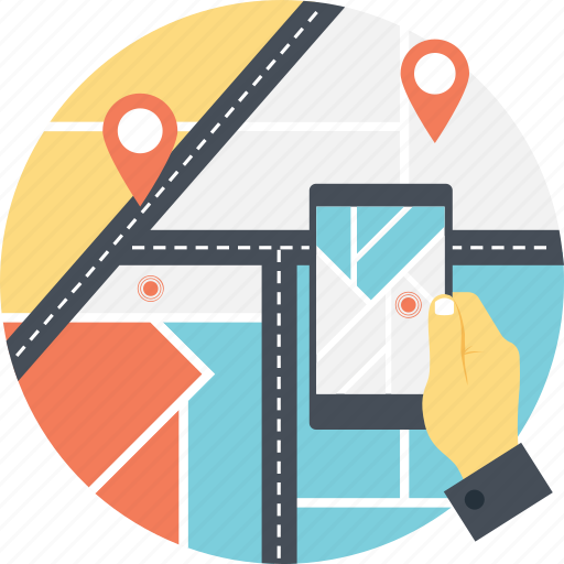 android gps, cell phone tracker, gps, mobile gps, tracking app icon