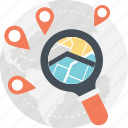 geolocation, location finder, location pointers, location search, map icon