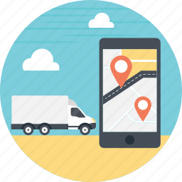 gps, shipment tracking, tracking app, tracking system, transport tracker, vehicle tracker icon