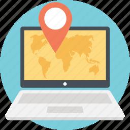 gps, gps navigation website, gps tracking software, navigation, online navigation services, pc navigator icon