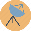 broadcasting, communication, dish antenna, parabolic antenna, radar, satellite dish, space icon