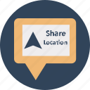 chat location, gps, gps sharing, navigation, share location, share location online, share location via chat icon