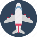 aeronautics, aircraft, airliner, airplane, aviation, flight, plane jet icon