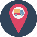 cargo location, courier location, courier service location, dispatch rider, letter carrier, mail carrier, mail carrier location icon