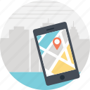 city guide, city map, gps, location tracker, mobile app, navigator icon