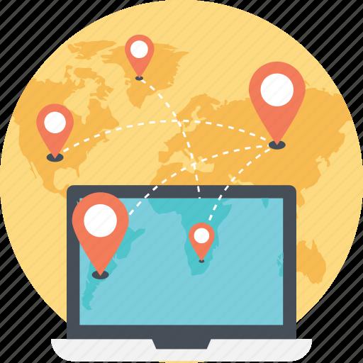 gps, navigation app, navigation software, online map, online navigation icon