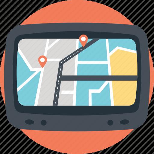 gps, gps device, gps receiver, gps tracker, navigation device icon