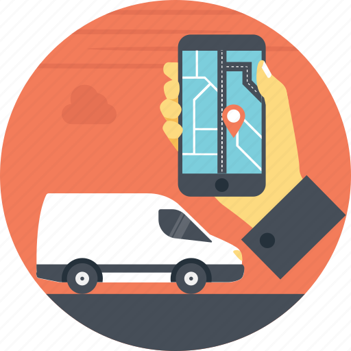 cargo tracking, gps, mobile tracking, navigation, transport tracking, vehicle tracker icon
