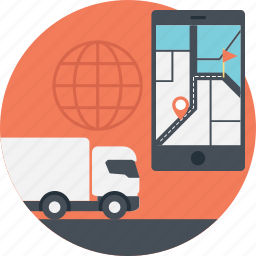 gps, mobile tracker, tracker, transport tracker, vehicle tracking icon