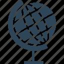 desk globe, geography, globe, map icon