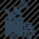 cargo tracking, satellite navigation, satellite tracking, shipping tracking icon
