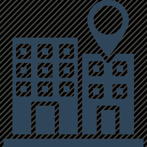 gps navigation, location holder, map pin, office address icon