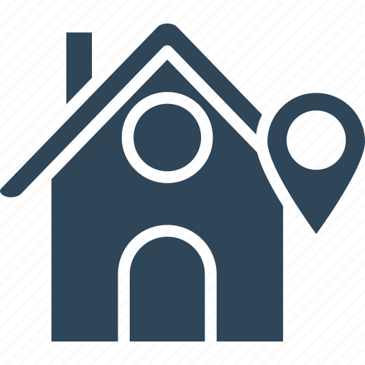 home address finder, home location, housing area, location map pin icon